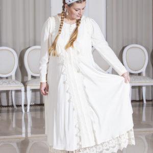 Неповторимый цветок белое платье